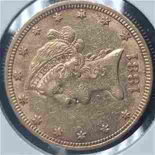 1881 $10 Liberty Head Gold Eagle Coin XF