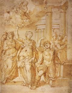 Andrea Riccio - Sibylle Announcing the Birth of Christ