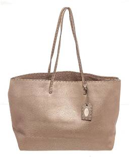 Fendi Beige Leather Selleria Tote Bag