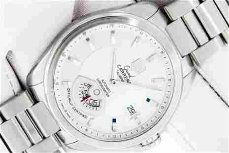 TAG Heuer Mens Stainless Steel Silver Dial Grand