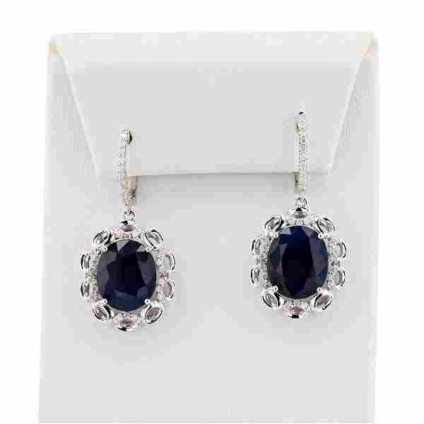 14.80 ctw Blue Sapphire and 0.46 ctw Diamond 14K White