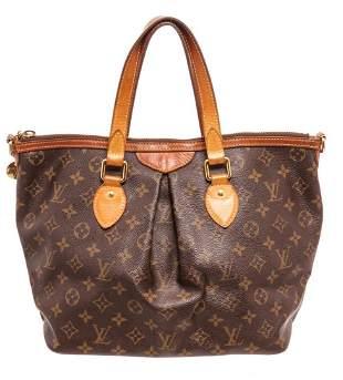 Louis Vuitton Brown Monogram Palermo PM Tote Bag