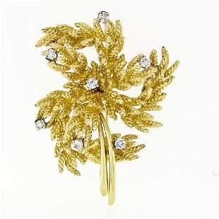 Vintage 18K Yellow Gold 0.65 ctw Diamond Detailed