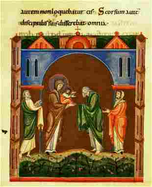 Unknown - Maria and Christ in the Temple