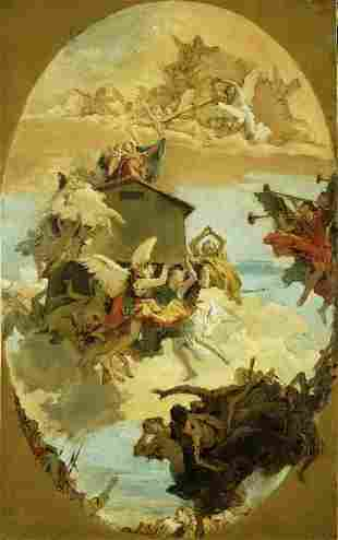 Tiepolo - The Miracle of the Holy House of Loreto