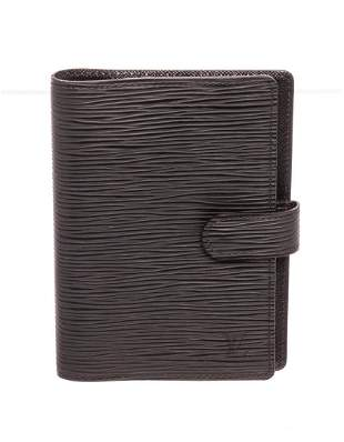 Louis Vuitton Black Monogram Agenda PM Wallet