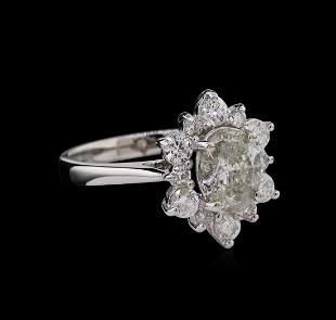1.74 ctw Diamond Ring - 14KT White Gold
