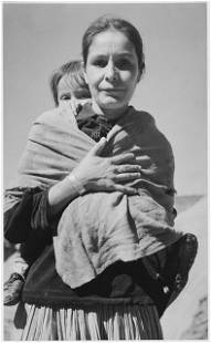 Adams - Dinee Woman and Child, Canyon de Chelle,