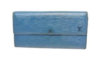 Louis Vuitton Blue Epi Leather Sarah Wallet