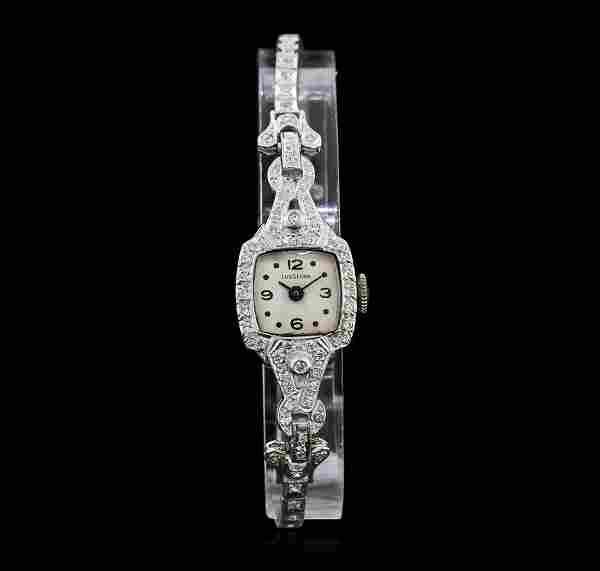 Lusserna for Macy's Platinum Diamond Vintage Ladies