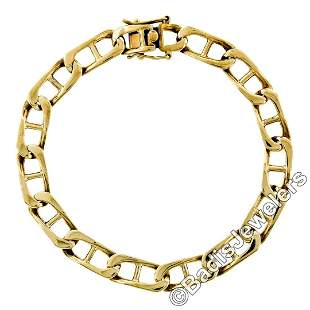 Vintage 14kt Yellow Gold 8.4mm Large Gucci Link Chain
