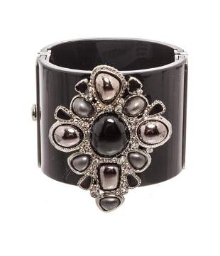 Chanel Black Enamel Bracelet