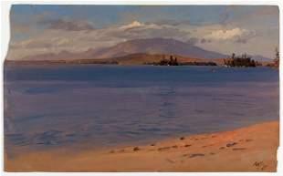 Frederic Edwin Church - Mt Katahdin from Lake