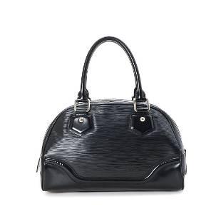 Louis Vuitton Black Epi Leather Bowling Montaigne PM