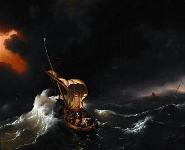 Ludolf Backhuysen - Christ in the Storm on the Sea of