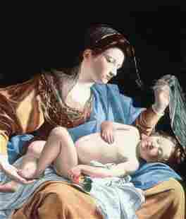 Orazio Lomi Gentileschi - Madonna with sleeping christ