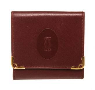 Cartier Beige Leather Coin Purse Wallet
