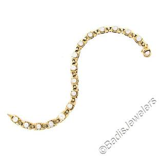 Vintage 14kt Yellow Gold Open Link and Natural