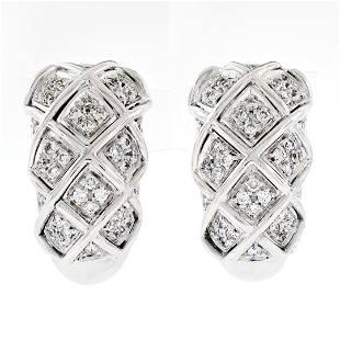 18K White Gold 1.09 ctw Round Brilliant Pave Diamond