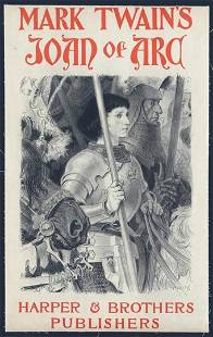 Harpers & Brothers Publishers - Mark Twain's Joan of
