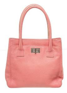Chanel Pink Leather Small Shopper Bag