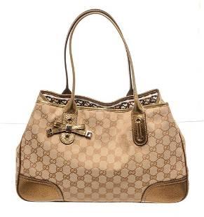 Gucci Brown Canvas Princy Shoulder Bag