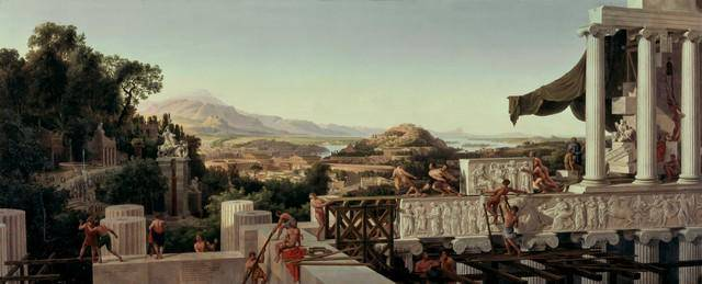 August Ahlborn - View of the Flower of Greece