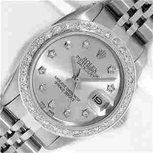 Rolex Ladies Stainless Steel Silver Star Diamond