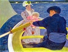 Mary Cassatt - The Boat Travel