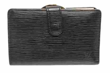 Louis Vuitton Black French Wallet