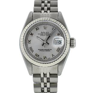 Rolex Ladies Stainless Steel Silver Roman 26MM Oyster
