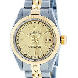 Rolex Ladies 2 Tone Yellow Gold & Stainless Steel