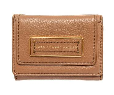 Marc By Marc Jacobs Brown Leather Mini Compact Flap