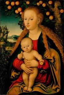 Lucas Cranach - The Virgin and Child Under an Apple