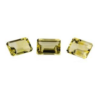 20.84 ctw.Natural Emerald Cut Citrine Quartz Parcel of