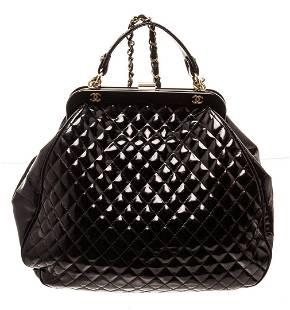 Chanel Black Leather Doctor Shoulder Bag