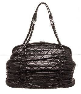 Chanel Black Leather Chain Shoulder Bag