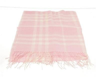 Burberry Pink Silk Scarf