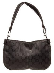 Gucci GG Black Nylon Shoulder Bag