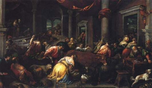 Jacopo Bassano - Christ Drives the Dealers from the