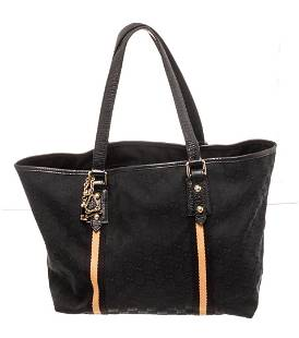 Gucci Black Leather Jolicoeur Tote Bag