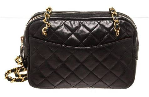 Chanel Black Lambskin Vintage Shoulder Bag