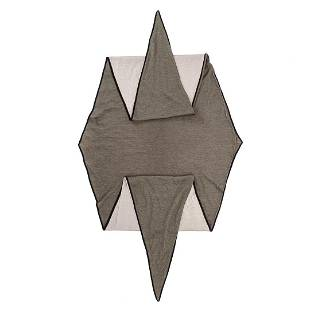Hermes Grey Losange Silk Scarf