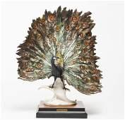 Guiseppe Armani Peacock Capodimonte Sculpture