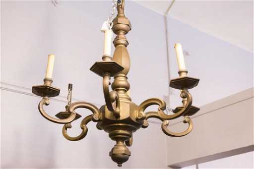 Nyc estate liquidators ny upcoming auctions 4 past catalogs continental bronze chandelier vintage 5 light aloadofball Images