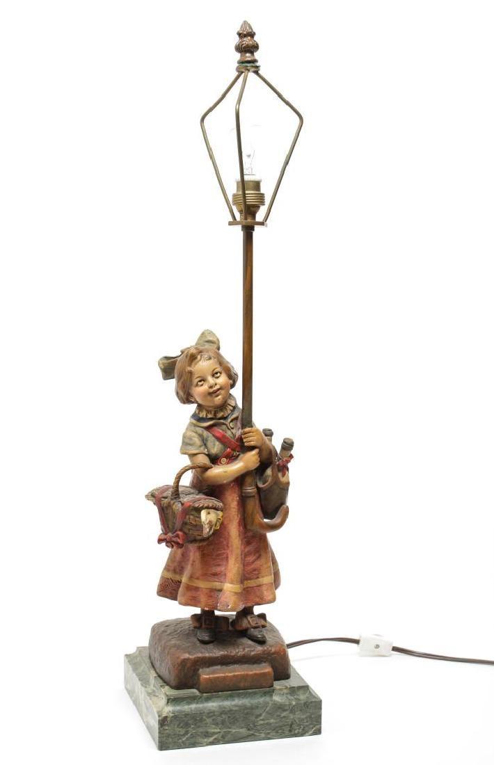 Carl Kauba (1865-1922)- Vienna Bronze Lamp