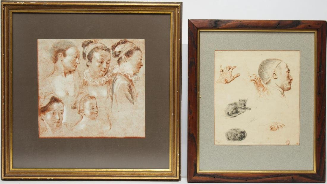 Figural Studies, Male & Female- 2 Prints
