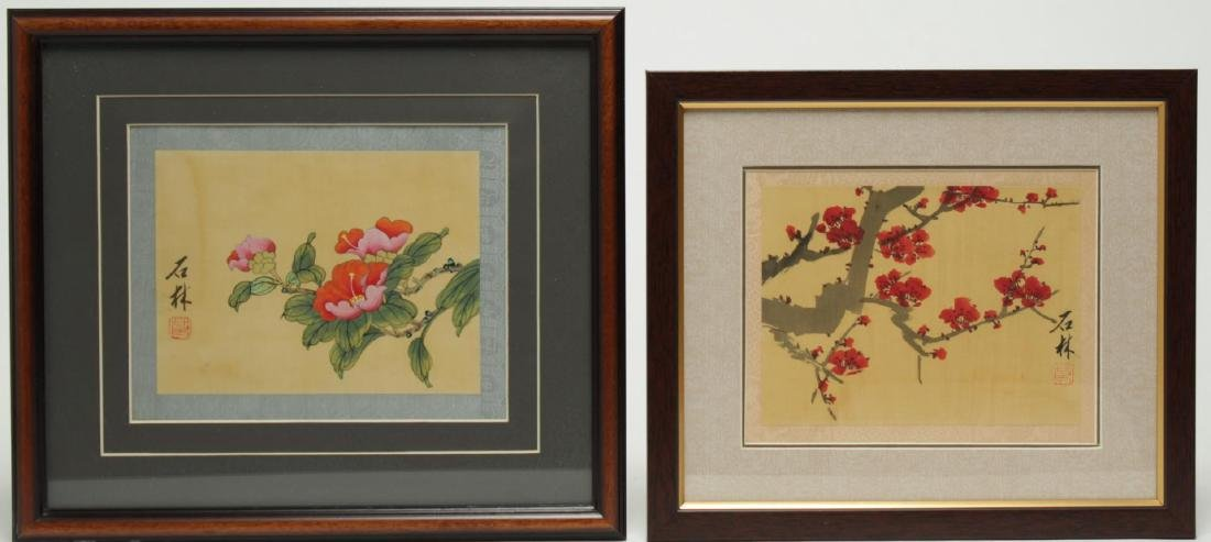 Chinese Hand-Painted Flower Pictures, 2