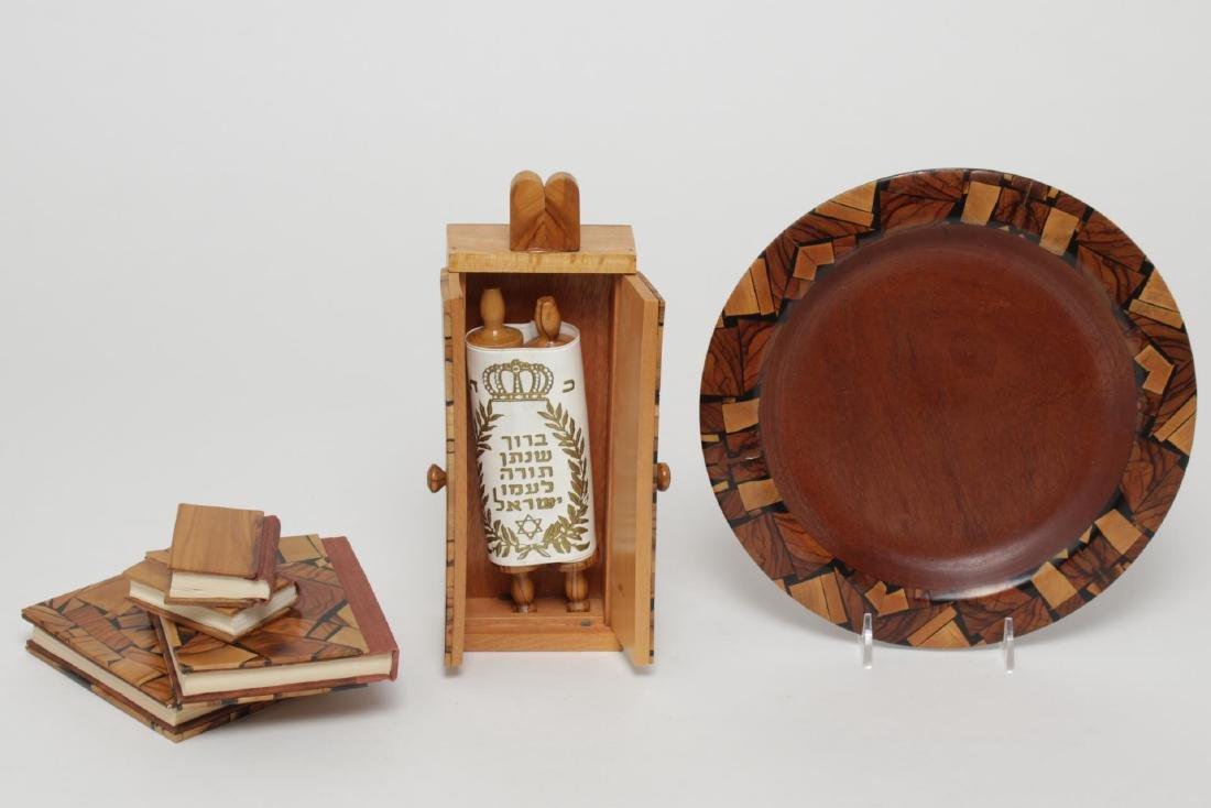 Judaica Olive Wood Pieces, inc. Torah in Case, 6