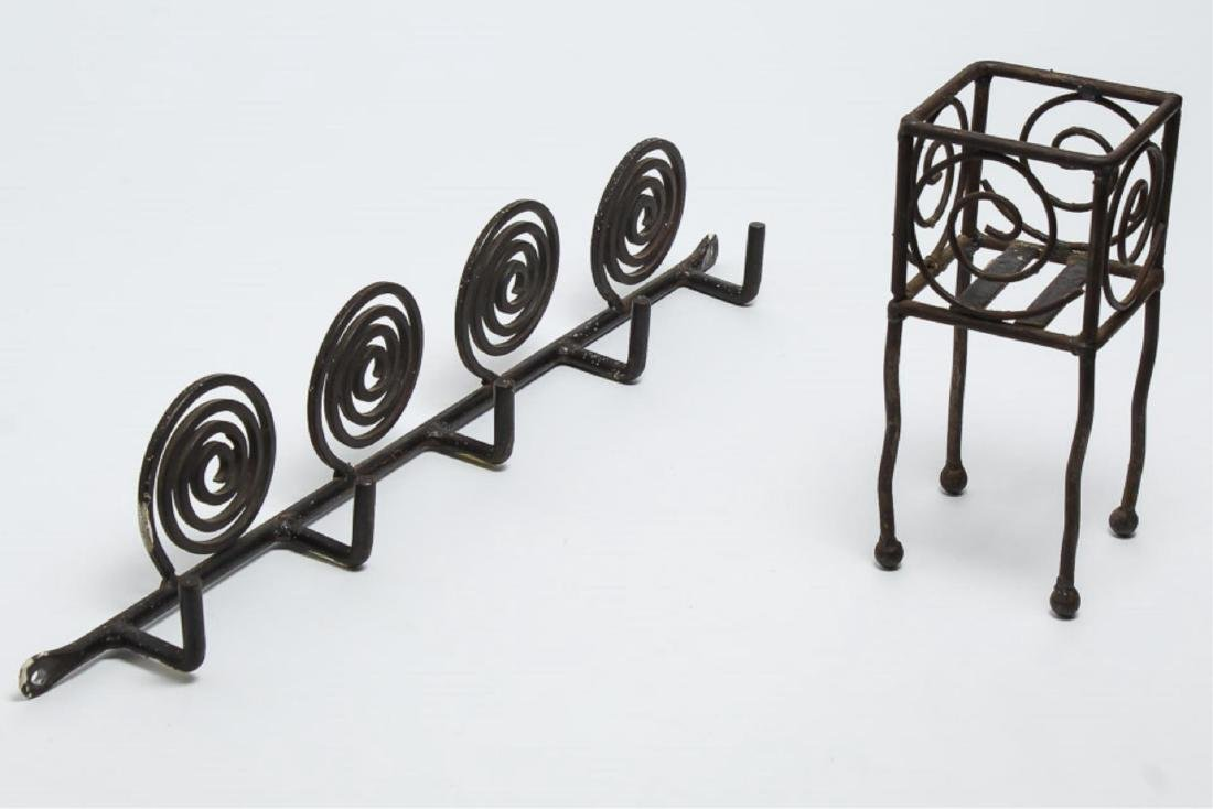 Wrought Iron Candle Holder & Hanging Rack - 2